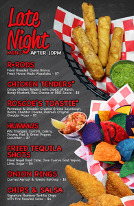 Roscoe's Late Night Menu